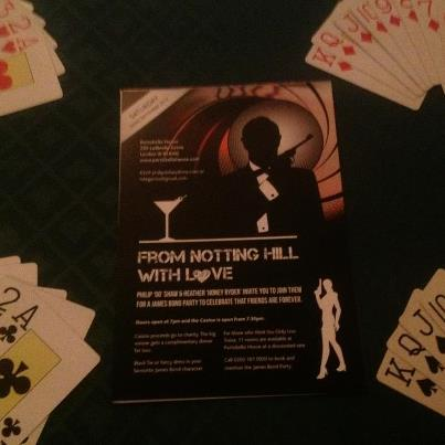 James Bond themed Party Invite
