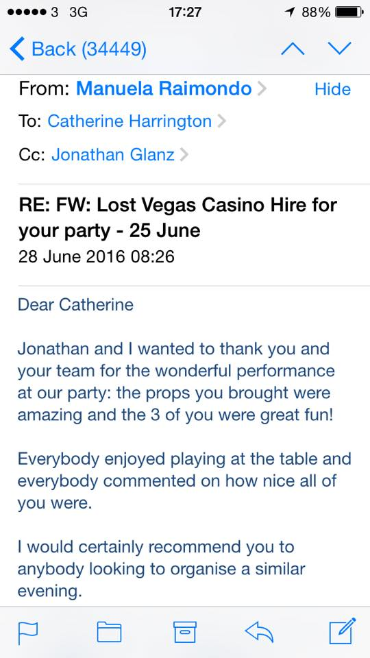 James bond themed party feedback